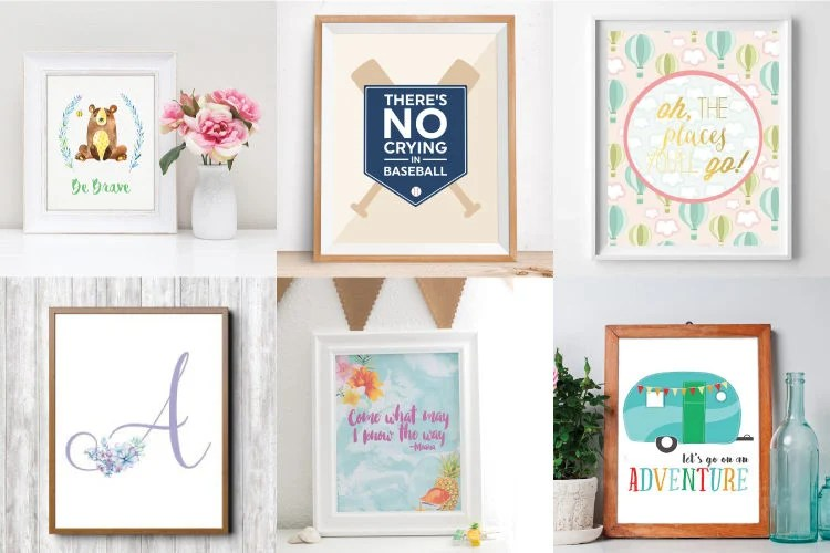 Add some adorable cuteness to your little one's nursery with this amazing collection of free nursery printables! Whatever your nursery theme, there's something for every adorable style.