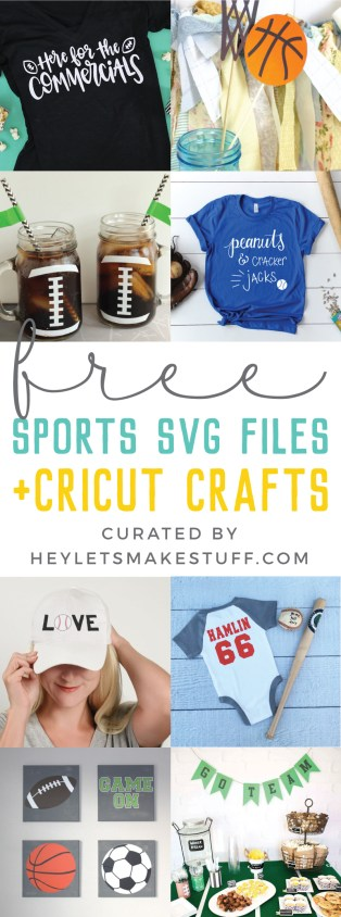 Free Sports SVGs for Cricut and Silhouette - Hey, Let's Make Stuff
