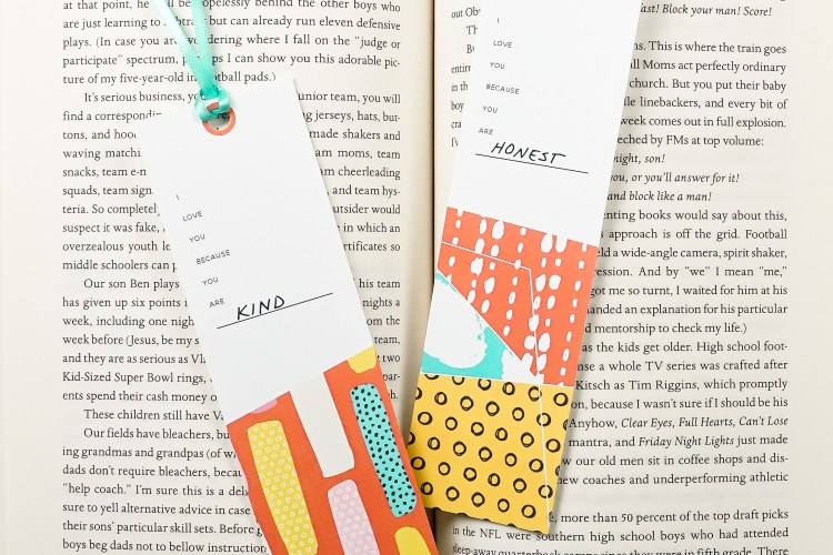 "Tell someone they are special with these sweet printable bookmarks! Just print and fill in the blank: ""I love you because you are_____"" and gift to your favorite bookworm!"