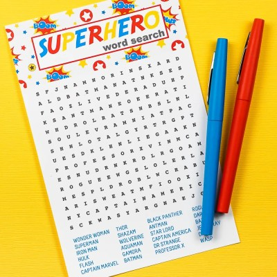 Free Printable Superhero Word Search