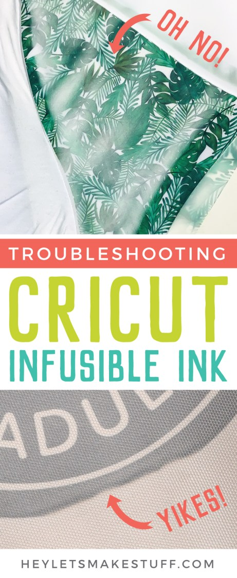 If you're having problems with ghosting, fading, splotching, or shifting, this guide will help you in troubleshooting Cricut Infusible Ink. Stop wasting expensive materials and learn how to get your projects right, the first time.
