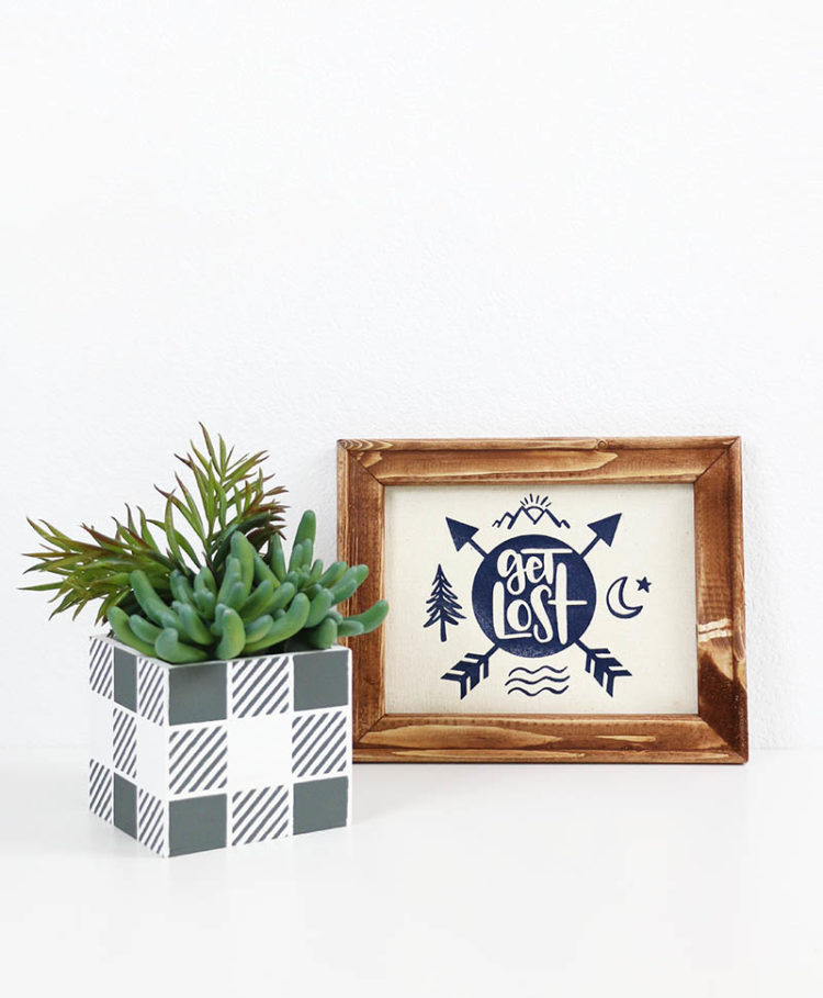 Make your very own reusable stencils with your Cricut then dress up a planter in this cute buffalo plaid pattern. Persialou.com shows you how to get it done.