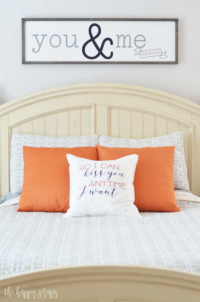 I'm pretty sure your master bedroom needs this you & me sign. Not sure how to make it? Don't worry, thehappyscraps.com teaches you how to put it together using your Cricut EasyPress 2.