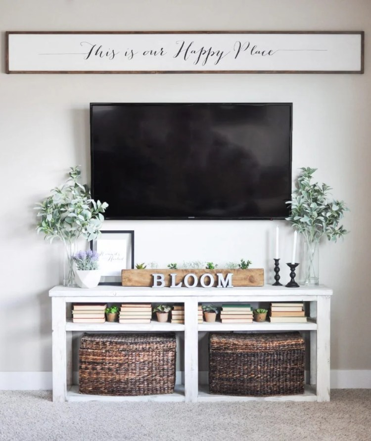 This DIY large wooden sign is definitely an eye catcher and would look great in your living room or family room. Use your Cricut and the directions from cherishedbliss.com to make your very own sign.
