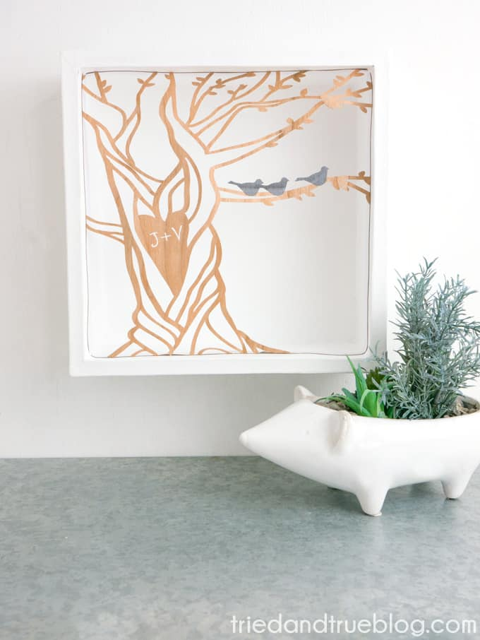 With the instructions from triedandtrueblog.com and your Cricut you can make and customize this curved tree artwork so it fits perfectly in your home.