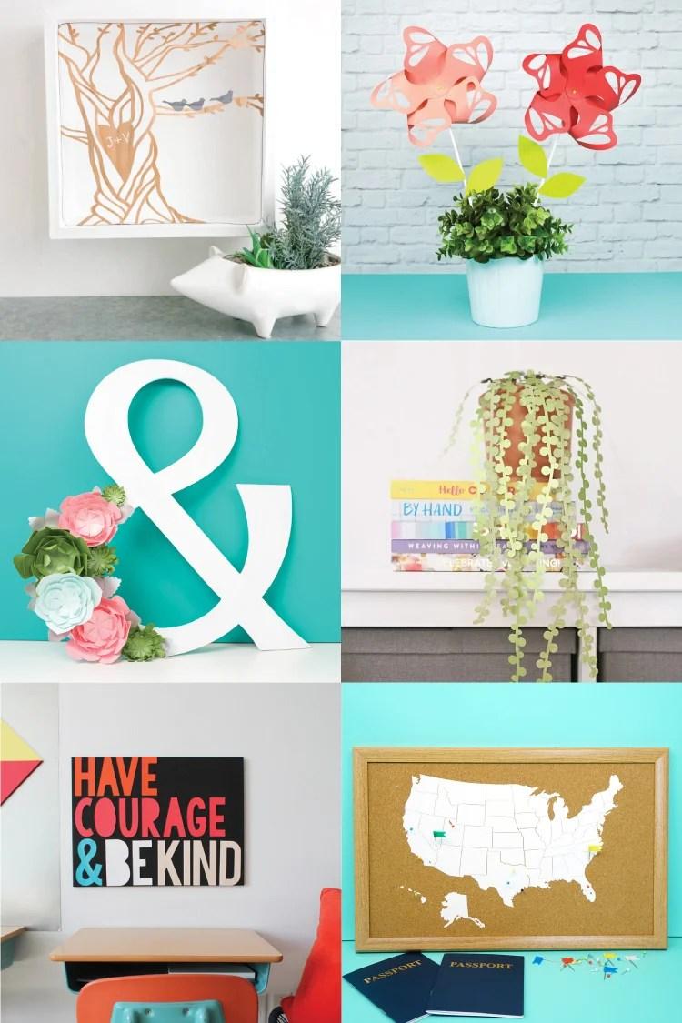 Home Decor Ideas with the Cricut - Hey, Let's Make Stuff