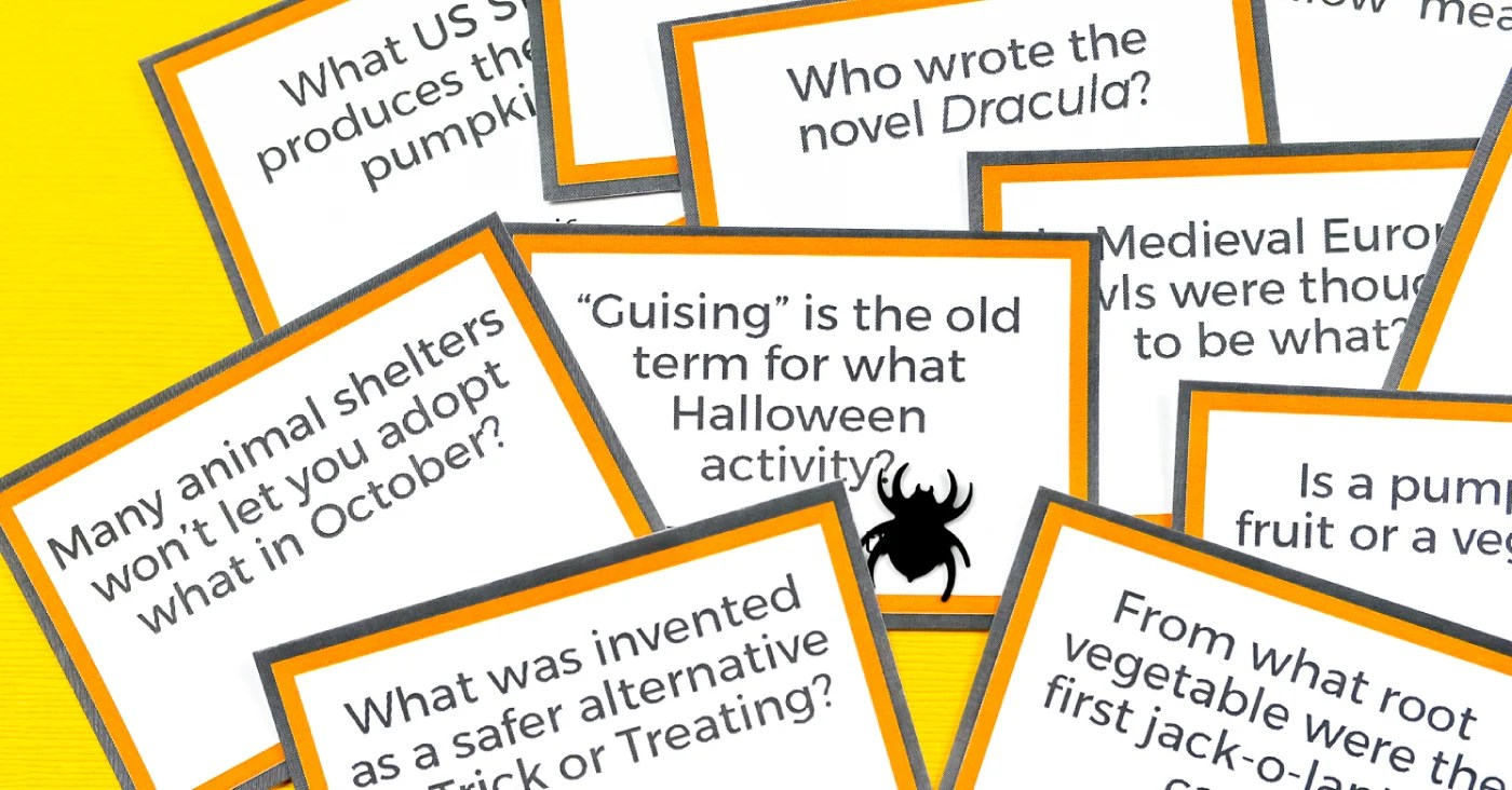 image relating to Halloween Trivia Questions and Answers Free Printable called Free of charge Printable Halloween Trivia - Hey, Allows Create Things