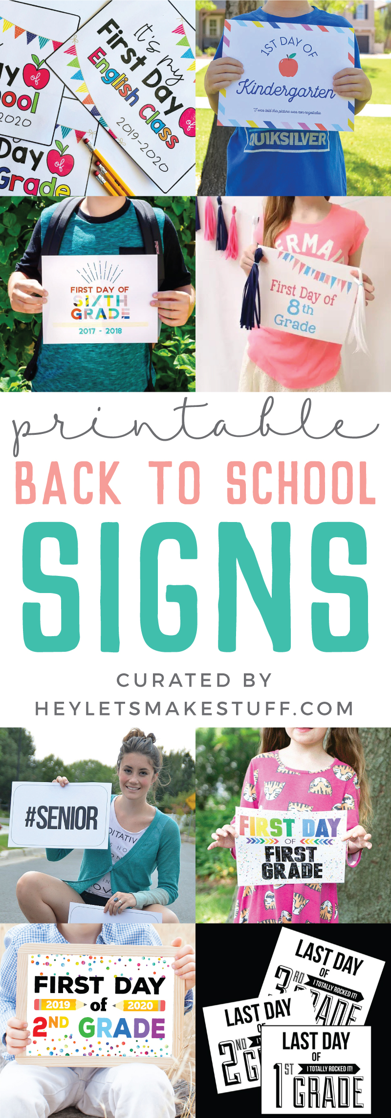 photograph regarding Printable Back to School Signs referred to as The Great Printable To start with Working day of College Indications - Hey, Permits