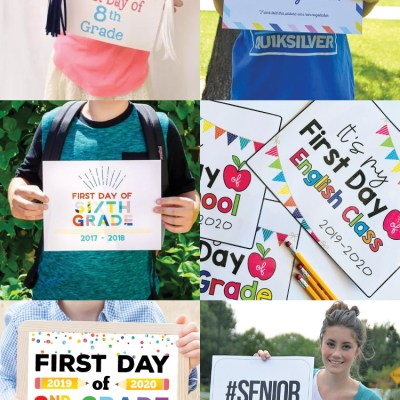 The Best Printable First Day of School Signs