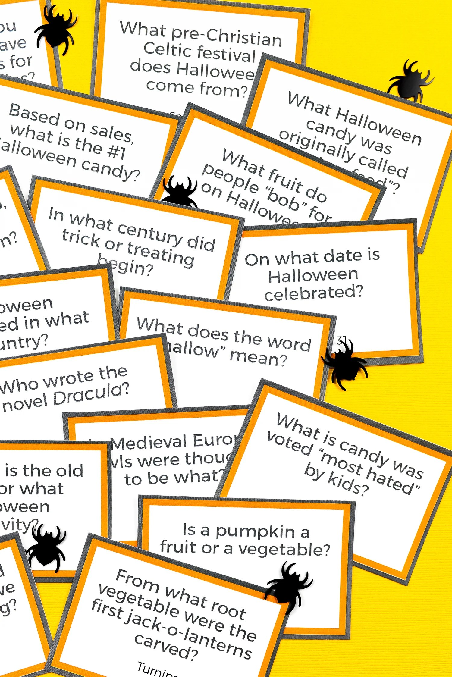image regarding Autumn Trivia for Seniors Printable named Free of charge Printable Halloween Trivia - Hey, Permits Generate Things