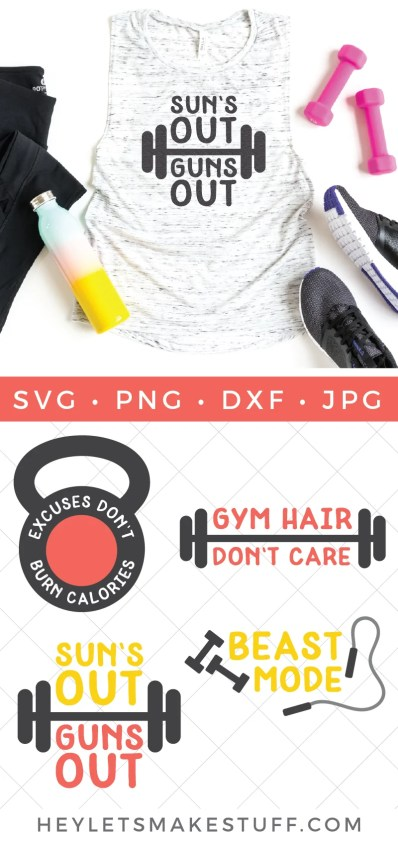 Get fit, stay fit and do it for YOU! This Exercise & Workout SVG Bundle has all the #beastmode inspiration you need to get out there and get moving!