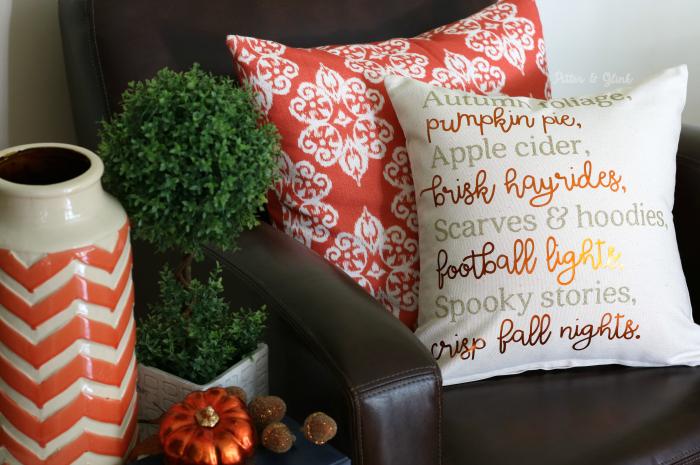 Fall Cricut project pillow