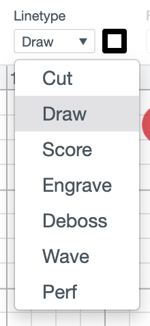 Screenshot of Draw being selected