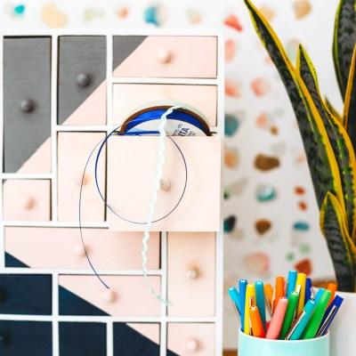 Color-Blocked Craft Room Organizer with Rust-Oleum