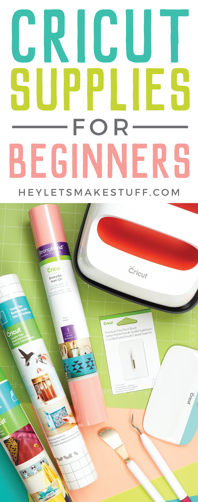 Figuring out what you need to work your new Cricut can be intimidating! Here are the supplies you'll need if you're a Cricut beginner—this Cricut gift guide will help you save money and get exactly what you need to start. via @heyletsmakestuf