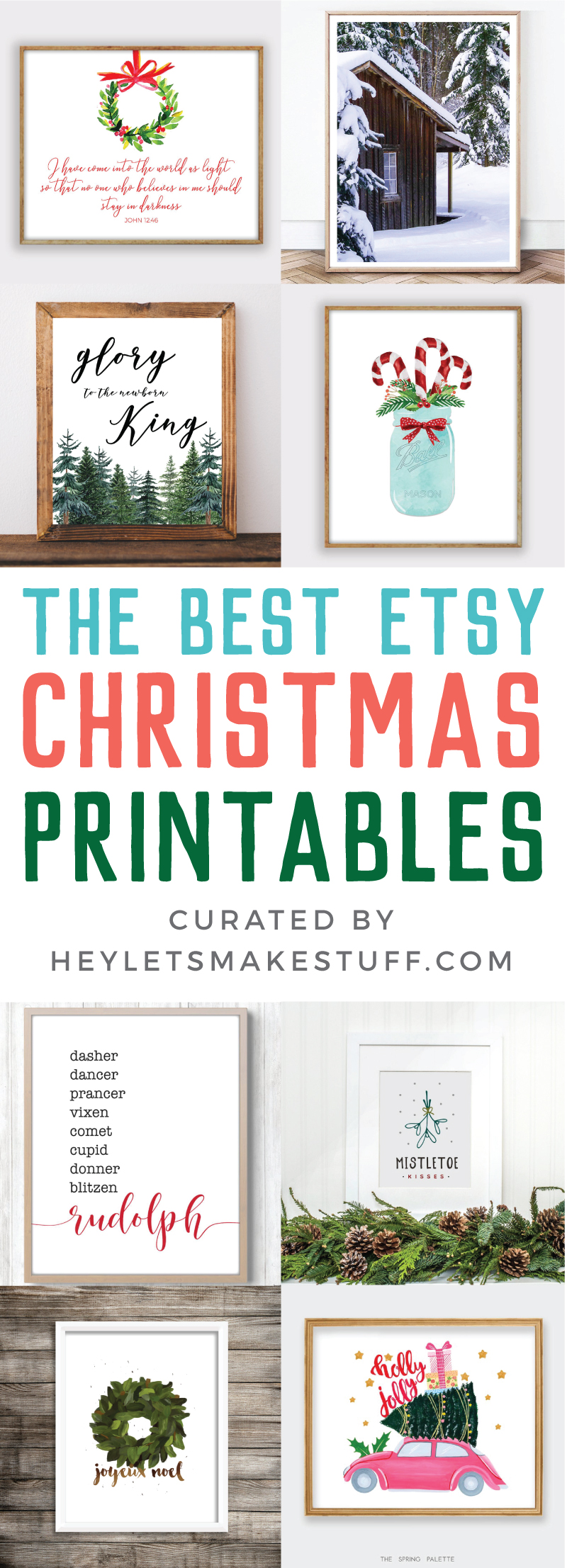 Etsy is the perfect place to find all styles of Christmas printables! I've rounded up some of my favorites—all under $10. Perfect for home decor, classrooms, invitations, and more.  via @heyletsmakestuf