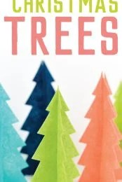 Looking for easy Christmas decor? These felt Christmas trees are so easy to make using your Cricut! Just cut, assemble, and display!