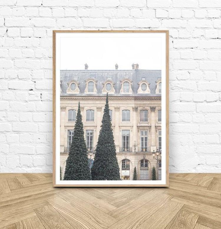Paris Photography Print - Paris Christmas Print