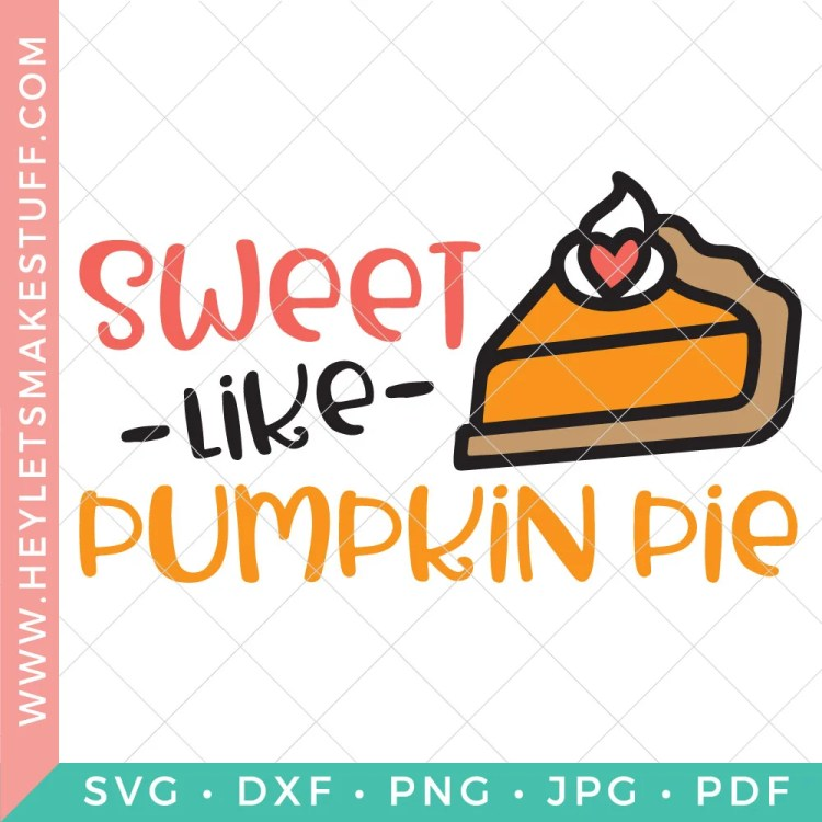 Your little one will be deliciously cute in a onesie made with this Sweet Like Pumpkin Pie SVG! Get this adorable free cut file, along with more than a dozen other free Thanksgiving SVG files!