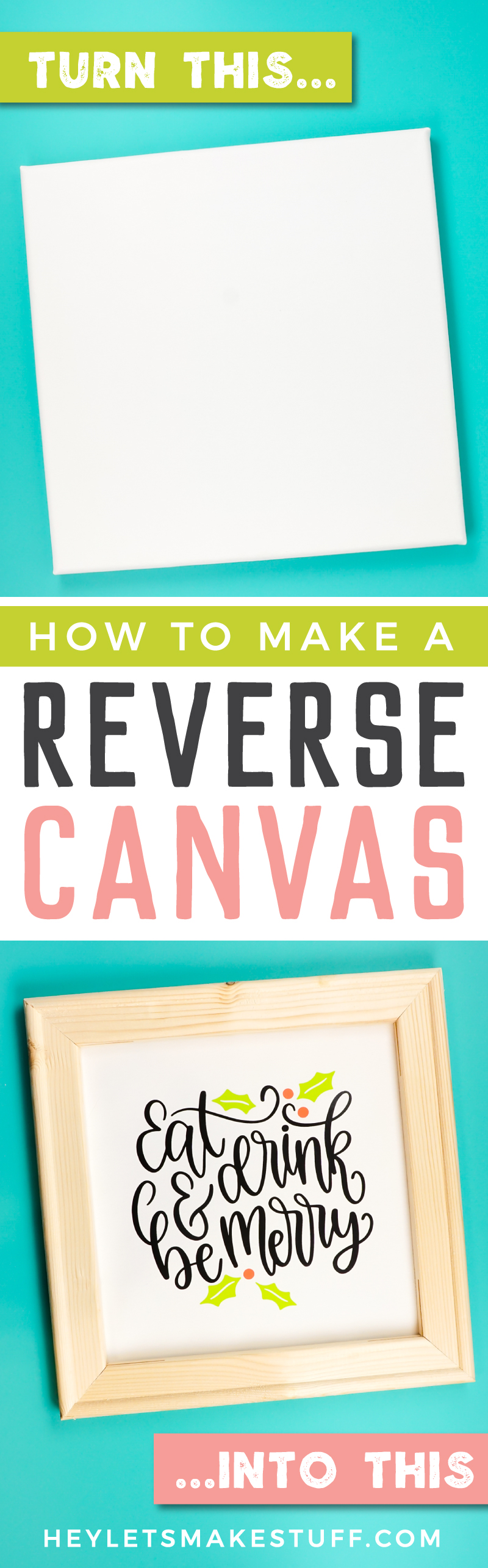 Framing art can be so expensive, but making a reverse canvas is a quick trick with an inexpensive frame! Here's how to make one out of a wrapped canvas. via @heyletsmakestuf