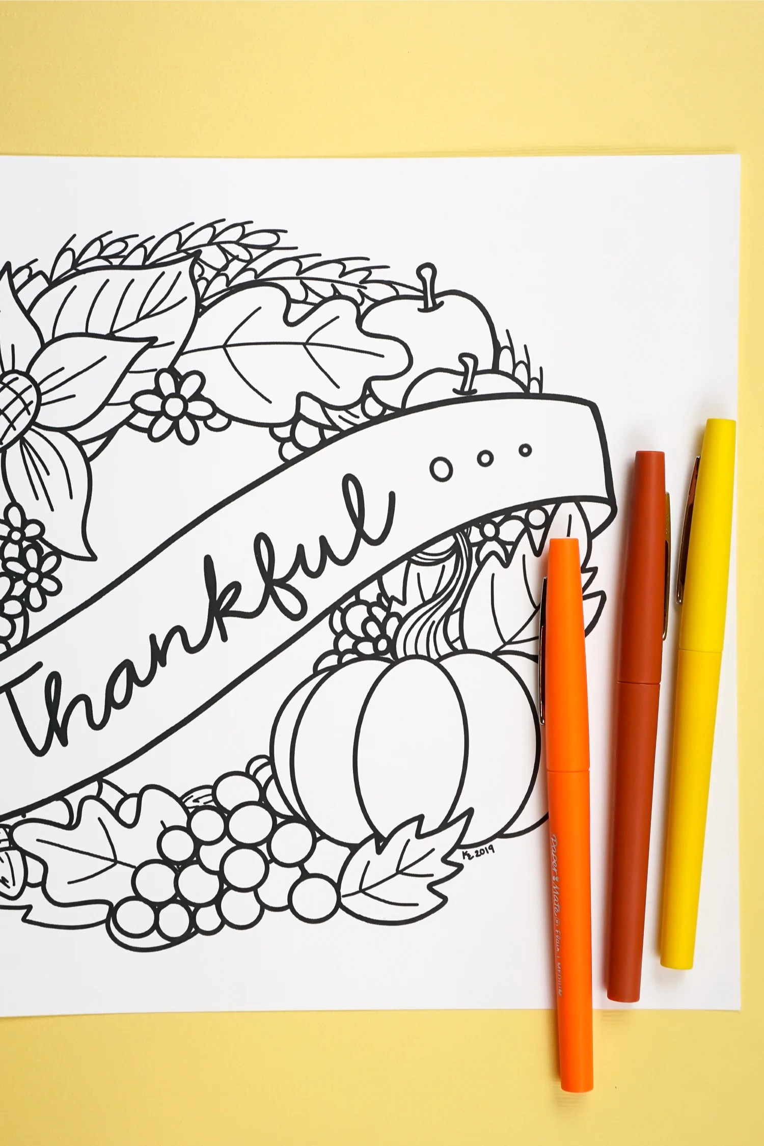 Gobble Gobble! It's turkey season and the food isn't the only fun. Bring Free Printable Thanksgiving Coloring Page to life while you wait for the turkey to finish cooking.