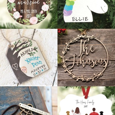 Personalized Ornaments from Etsy