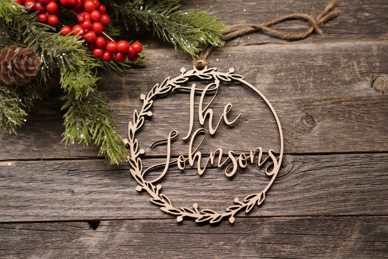 Wreath Christmas Ornament by Blush Wood Co.