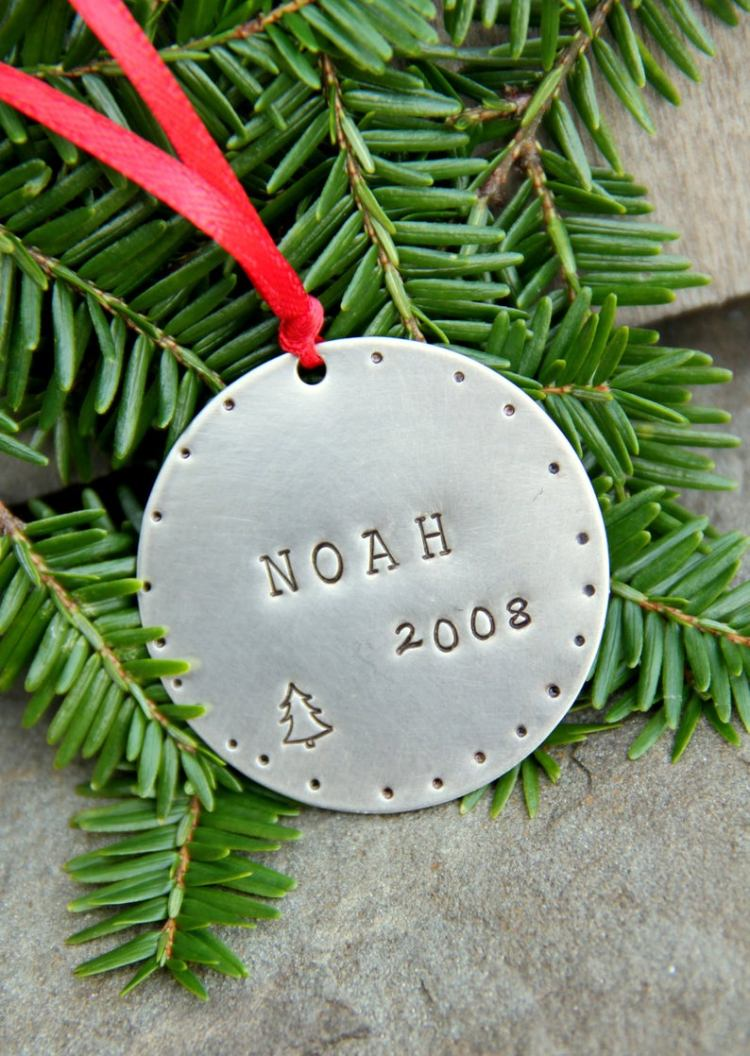 Stamped metal ornament by White Lilie Designs