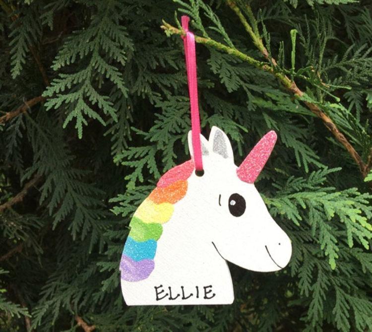 Unicorn Ornament by Cutie Pie Kids Names