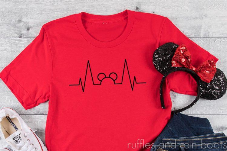 mickey heartbeat Disney SVG