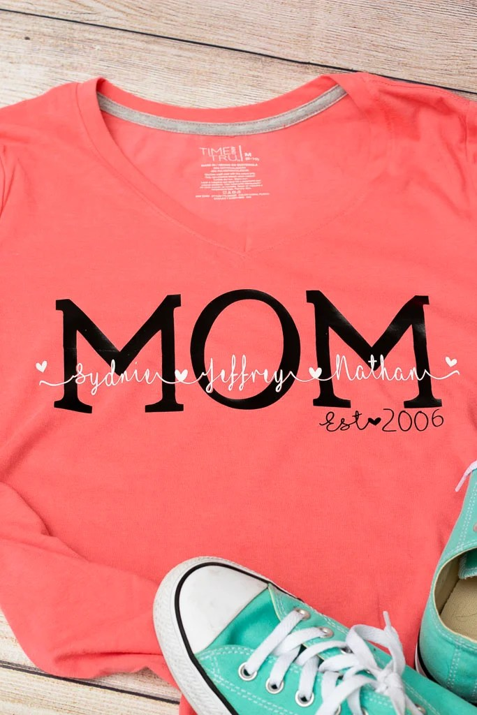 Personalized Mom Shirt - Leap of Faith Crafting
