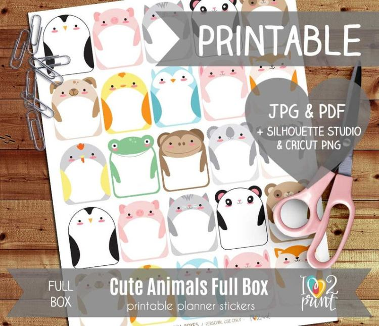 I Love 2 Print - Cute Animals