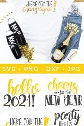 Pin Image for New Year's Eve SVG files