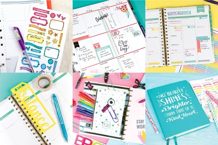 Now is the perfect time to get your planning game on point! From stickers to bookmarks, ephemera to cover decals, check out this crafty collection of planner ideas with the Cricut!