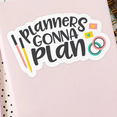 Free Planner SVG: Planners Gonna Plan