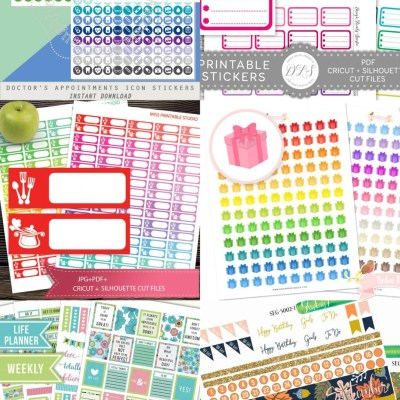 Printable Planner Stickers for Your Cricut from Etsy