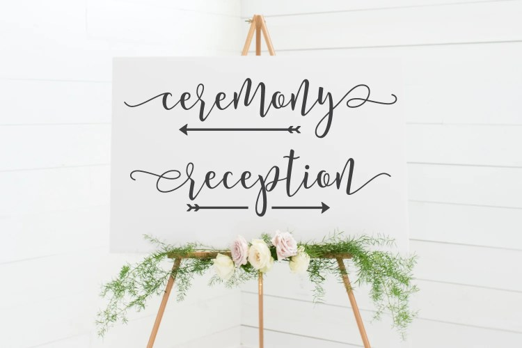Use your Cricut to plan your big day! These free wedding sign SVG files are perfect for making ceremony and reception signs. Plus get more than a dozen other free wedding SVG files!