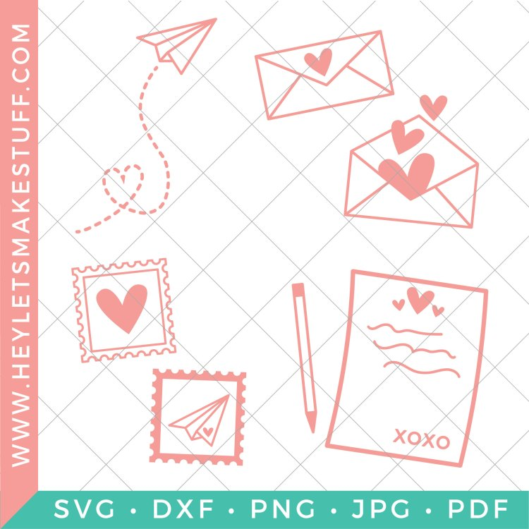 Grab this love letters SVG bundle to make adorable DIY Valentine's Day gifts for all of the people you love! There are four cut files total so you can create DIY gifts for multiple loved ones!