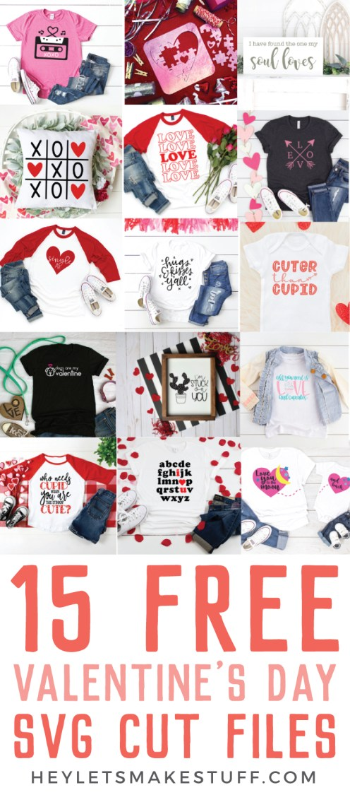 Get 15 absolutely free Valentine's Day cut files!
