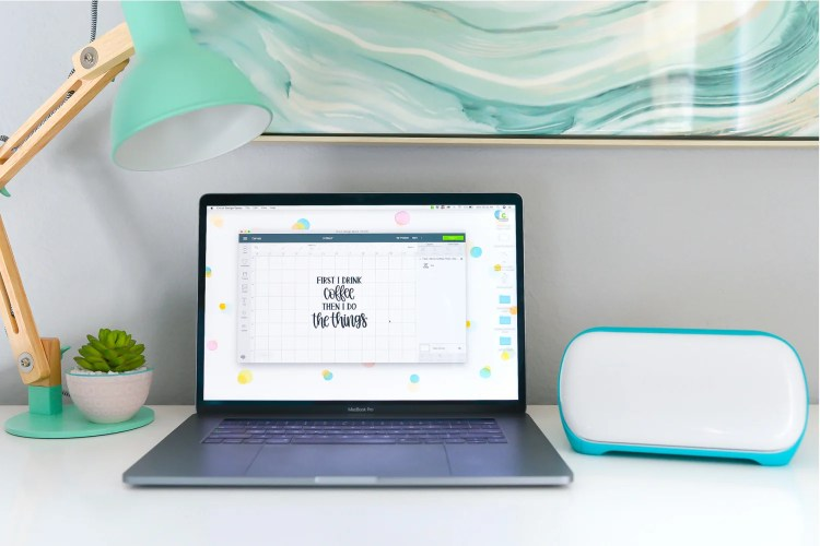 Cricut joy in an office with Design Space