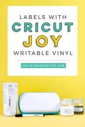 Organize everything in your house (and beyond!) using Smart Writable Labels and your Cricut Joy. Here's how to use this new material plus tips and tricks for getting the best results with the pen.