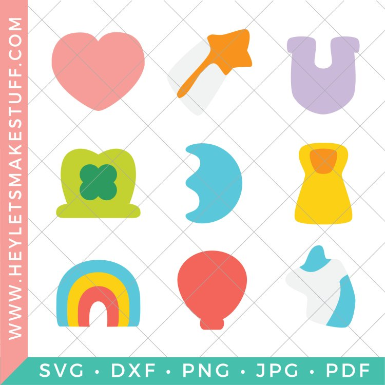 All the files included in this lucky charms svg bundle