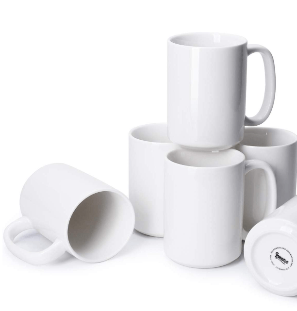 Blank white mugs for Cricut crafts