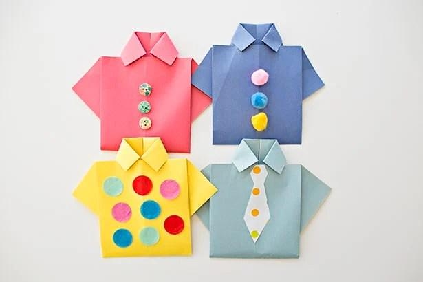 paper shirt card