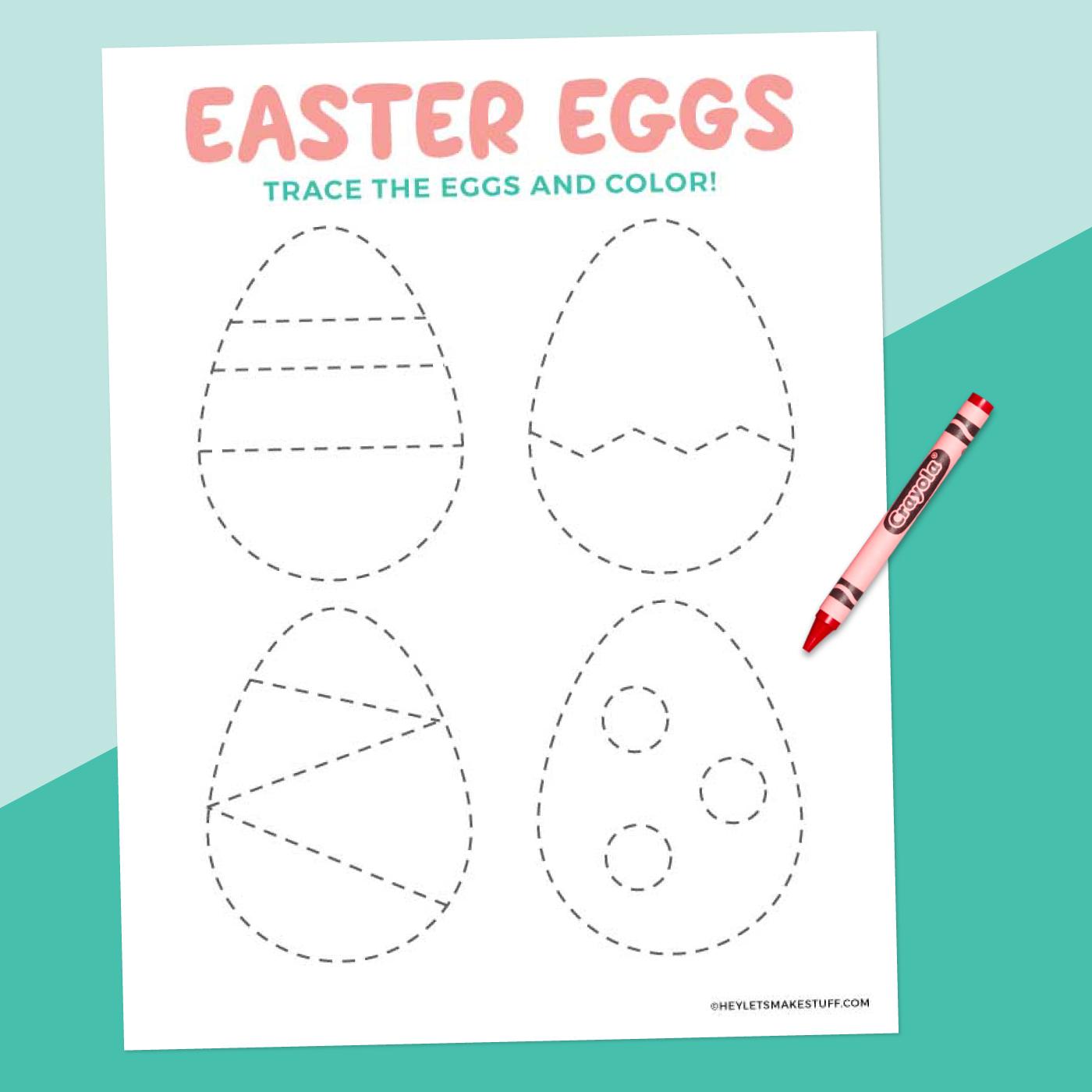Easter Egg Tracing Worksheet