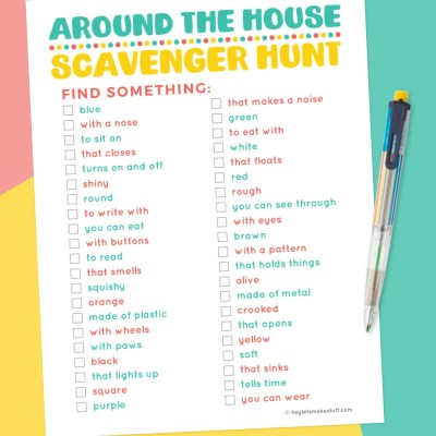 Printable Around the House Indoor Scavenger Hunt