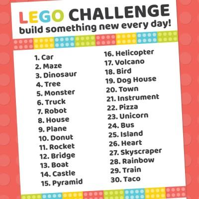 Printable LEGO Challenge