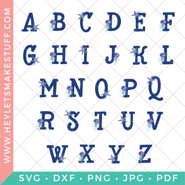 Head under the sea with these cute ocean nursery initials! They are the perfect finishing touch to your child's room! Download all 26 letters for free and print at home, and check out the four matching ocean nursery prints!