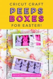 Give your Easter Peeps a nice little home with this Easter treat box made with your Cricut Explore or Cricut Maker! Get the free SVG for this fun Cricut Easter craft, perfect for Easter baskets and spring-themed gifts.