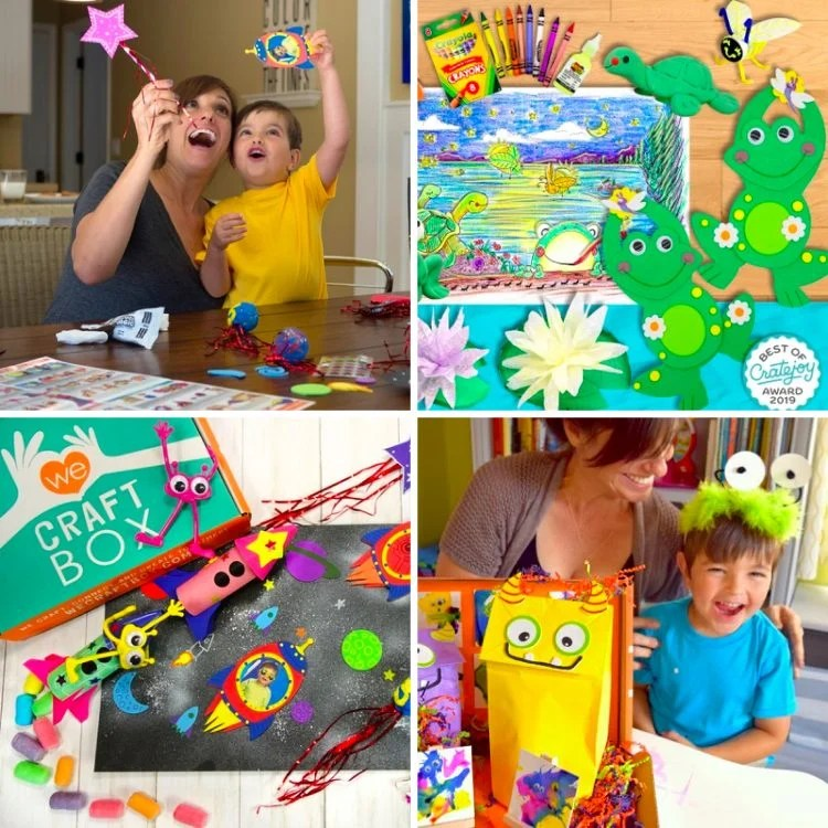 Collage of We Craft subscription box ideas from Cratejoy